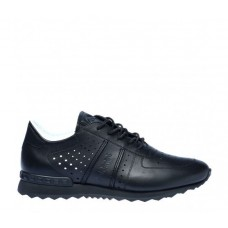 Кроссовки мужские Baldinini SNEAKERS IN BLACK TUMBLED CALFSKIN