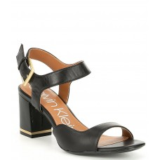 Босоножки замшевые Calvin Klein Chantay Heeled Sandal Black Leather