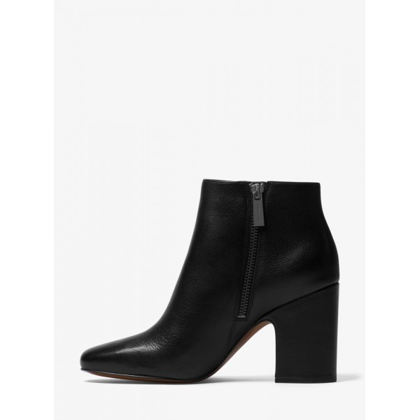 Michael Kors Elaine Bootie Leather Black ботильоны женские