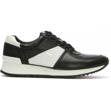 Кроссовки кожаные Michael Kors Allie Black & White Patent Sporty Trainer