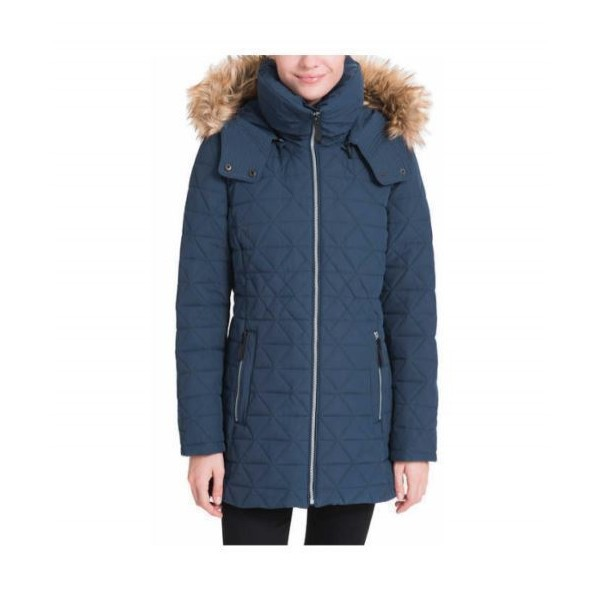 Andrew Marc Ladies Quilted Jacket With Stretch Navy куртка женская