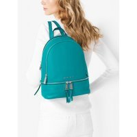 Рюкзак женский Michael Kors Rhea Medium Leather Backpack Tile Blue Turquoise