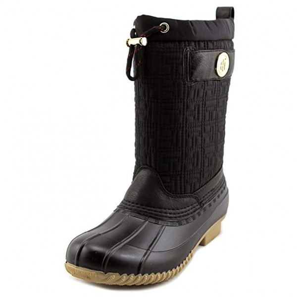 Сапоги Tommy Hilfiger Romea Fabric Round Toe Ankle Rainboots Black