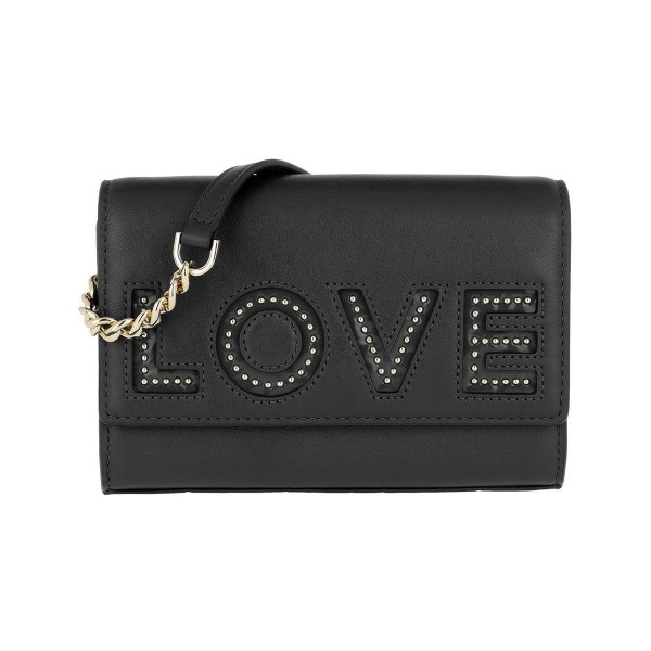 Michael Kors Ruby MD Clutch Purse Black Leather клатч кожаный женский