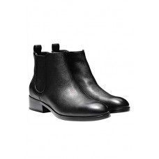 Ботинки Cole Haan Landsman Booties Short Leather Causal Ankle Boot Black
