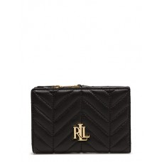 Кошелек Ralph Lauren Smooth Quilted New Compact WLT SMA Black