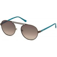 Очки солнцезащитные Guess Sunglasses GU3028 49F Matte Turquoise Green Mirror