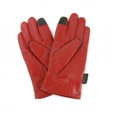 Перчатки Alpine Swiss Touch Screen Gloves Leather Red