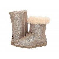 Угги BEARPAW Elle Short Winter Boot Pewter Distressed