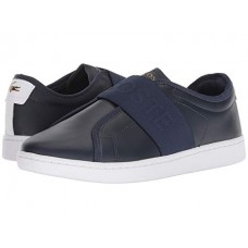 Слипоны кожаные Lacoste Carnaby Evo Slip Sneaker Navy White Leather