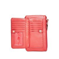 Кошелек женский GUESS Women's DX-17-150 Red Logo Dahlia Debossed Smartphone Wristlet
