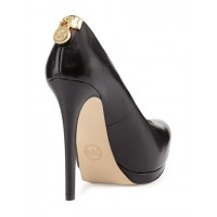 Туфли кожаные Michael Kors Hamilton Pump Black