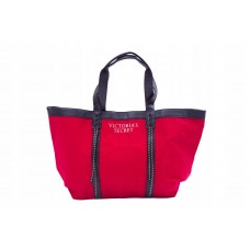 Сумка пляжная Victoria's Secret 11123127 Red Black Canvas