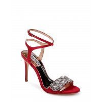 Босоножки на шпильке Badgley Mischka Red Satin Hailey Heels