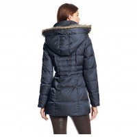 Пуховик Kenneth Cole New York Matte Satin Short Down Coat Midnight
