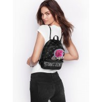 Рюкзак женский Victoria's Secret Monogram Small City Backpack Black
