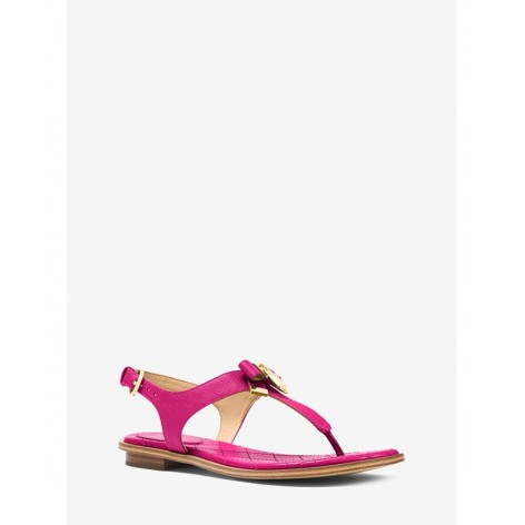 Сандалии женские Michael Kors Alice Saffiano Leather Sandal Ultra Pink