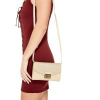 Сумка клатч женская Guess Crossbody DX-17-273 Gold Dahlia Push-Lock Clutch Mini