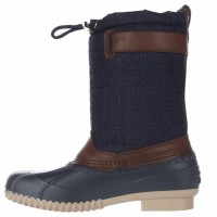 Сапоги Tommy Hilfiger Romea Fabric Round Toe Ankle Rainboots Navy