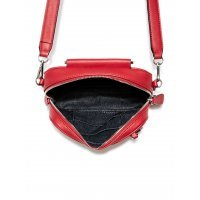 Сумка кроссбоди Guess Brea Silver-Tone D-Ring Crossbody Red