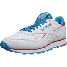 Кроссовки кожаные Reebok Classic Perf Fashion Retro Sneaker Running Shoe White/Blue