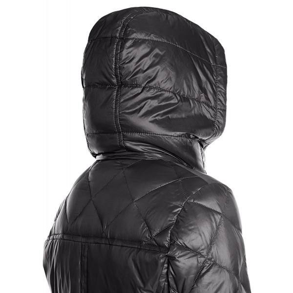 Пальто пуховик BCBGeneration  Down Coat with Hood Black 424-20