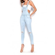 Комбинезон American Bazi Distressed Stretch Twill Overalls BLUE